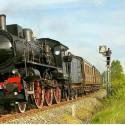 der historische Zug Treno Natura