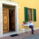Der separate Eingang zur Ferienwohnung Santa Chiara