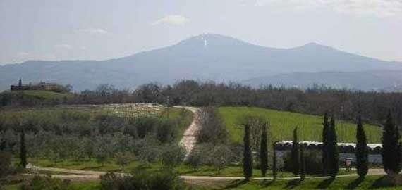 Blick auf die Bergregion des Monte Amiata