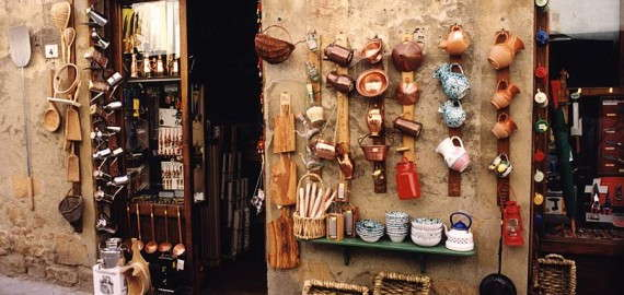 Pienza - Souveniers und Handwerkskunst