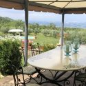 Toskana Ferienhaus Il Felceto - Terrasse mit Panoramablick