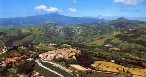 Celle sul Rigo im Süden der Toskana