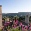 Ausblick in die grünen Hügel der Toskana