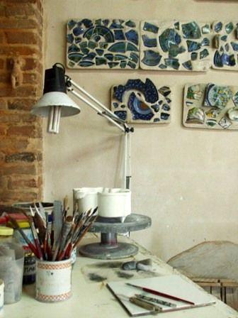 die Werkstatt in Villa Emaldi, Faenza