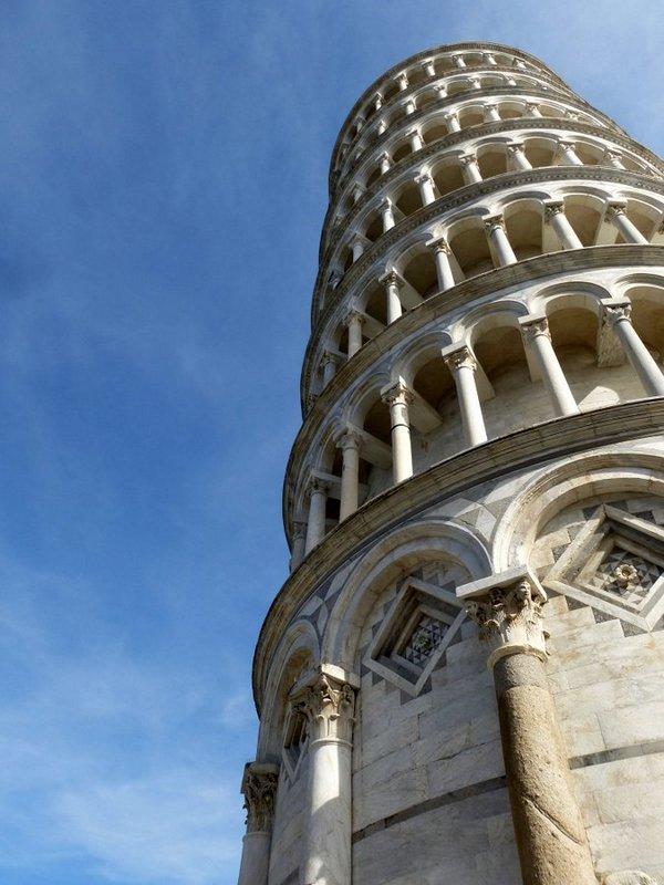 Das Wahrzeichen von Pisa - der Schiefe Turm