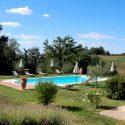 Val d'Orcia Ferienhaus Bagnolo, Garten und Pool