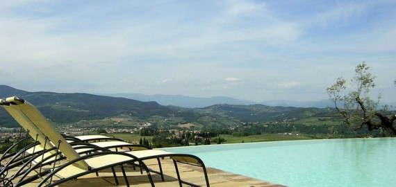 der Swimmingpool mit fantastischem Panoramablick
