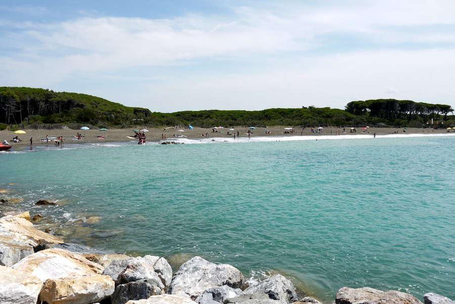 Badebucht bei Le Gorrette, Provinz Livorno, Etruskische Küste