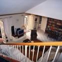 der geräumige Wohnraum im Erdgeschoss