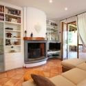 Villa Gloria - Wohnraum mit Kamin