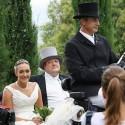 Heiraten in der Toskana - traditionelle Hochzeit mit Hochzeitskutsche