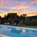 Ferienhaus La Casina - romantische Sonnenuntergangsstimmung am Pool