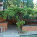 Ferienhaus La Casina - der Grillplatz im Garten