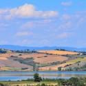 Lago di Chiusi - prächtiges Farbenspiel im Herbst