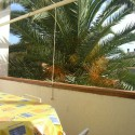 Ferienwohnung in Villa Mazzini - Der Balkon, leider inzwischen ohne Palme