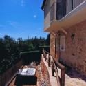 Versilia Ferienhaus Fabrizia - rückwärtige Terrasse mit Aussenwhirlpool