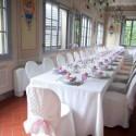 Villa Il Salicone - festliche Tafel im großen Ess-Saal
