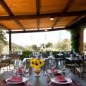 Die überdachte Restaurant-Terrasse