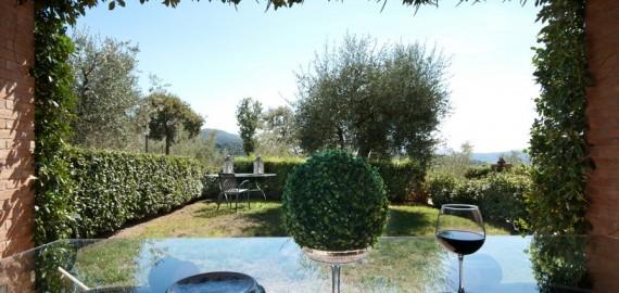 Ferienwohnung La Querce - die private Terrasse