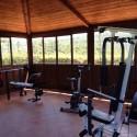 Forte Sorgnano - der Fitnessraum mit Ausblick