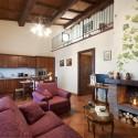 Ferienwohnung La Querce - Wohnraum mit Kochecke