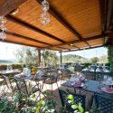 Umbrien Agriturismo Forte Sorgnano, Restaurant-Terrasse