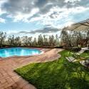 Ferienhaus Vinci - der private Pool mit Liegewiese