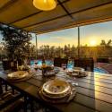 Ferienhaus Vinci - Abendessen bei Sonnenuntergang
