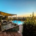 Ferienhaus Vinci - Terrasse mit Blick in den Garten