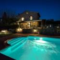 Ferienhaus Vinci - Pool mit Nachtbeleuchtung