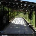die schattige Boccia-Bahn