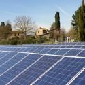 die Fotovoltaicanlage des Agriturismo
