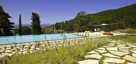 Maremma Ferienwohnungen Poggio la Croce - Pool in Panoramalage