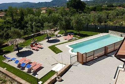 Ligurien Ferienwohnungen La Fonda - der Pool