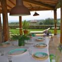 gemütliches Abendessen auf der Terrasse