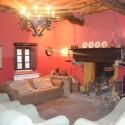 Landhaus Capannori - gemütliche Sitzecke am Kamin