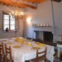 Landhaus Capannori - Esszimmer mit Kamin