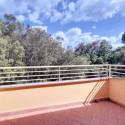 Die Aussicht vom Balkon