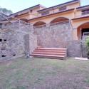 Der hintere private Garten