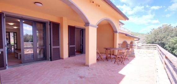 Ferienwohnung Scoglio - rückwärtige Terrasse