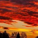 romantische Sonnenuntergangs-Stimmung