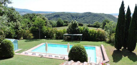 Toskana Ferienwohnungen Val d'Orcia mit Pool und Garten