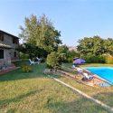 Toskana Ferienwohnungen Val d'Orcia, Garten mit privatem Pool
