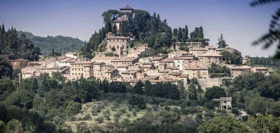 Das Dorf Cetona im Val di Chiana