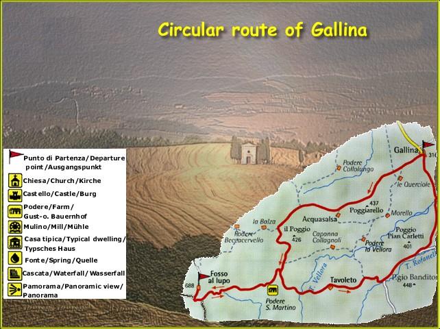 Toskana geführte Rundwanderung Gallina