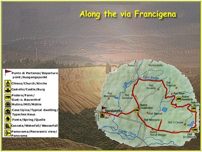 Toskana geführte Wanderung Via Francigena