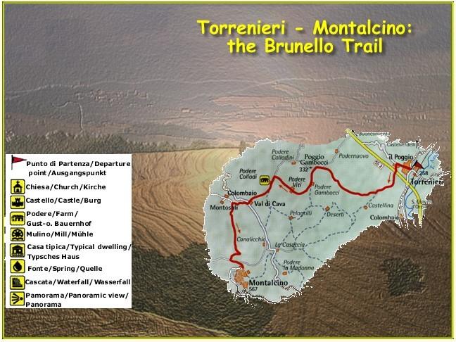 Toskana geführte Wanderung - Der Brunello-Trail