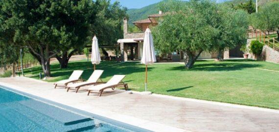 Casa del Pescatore, Garten mit Pool