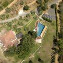 Toskana Ferienhaus am Meer, Luftaufnahme